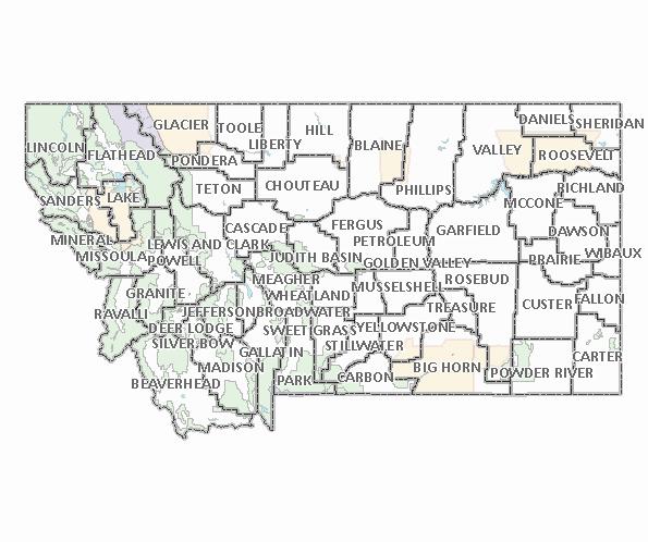 County Maps Home - Montana county map